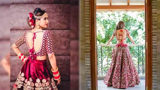 Long Border Saree Blouse Design