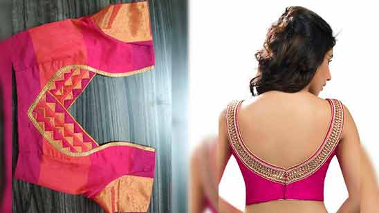 Simple Blouse Designs For Border Sarees