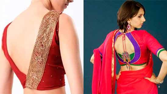 Simple Border Saree Blouse Designs