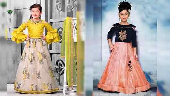 Baby Girl Lehenga Blouse Designs