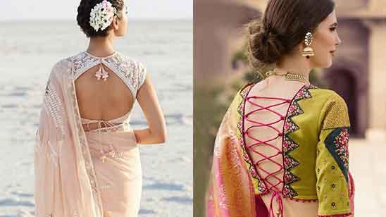 Blouse Back Neck Designs Silk Saree