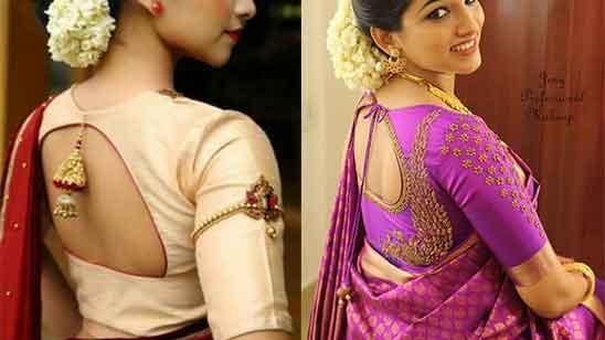 Blouse Back Neck Designs Silk Sarees