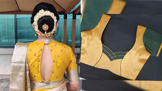 Blouse Back Neck Designs for Silk Saree