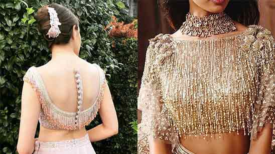 Blouse Design For Lehenga Front and Back