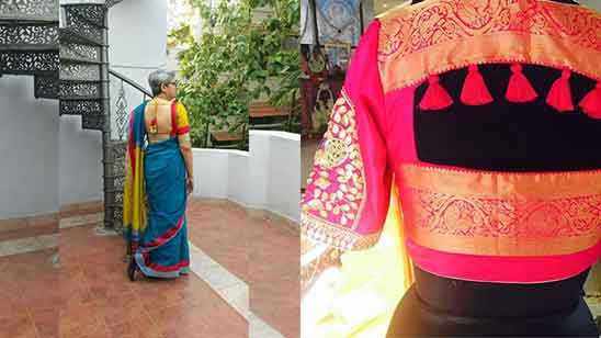 Blouse Designs of Silk Sarees