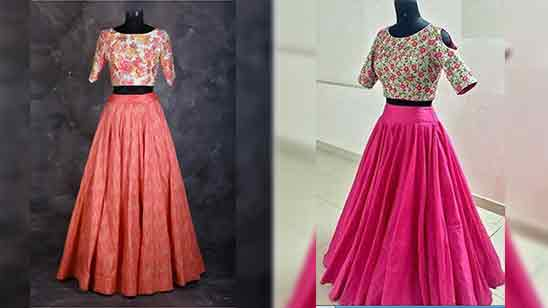 Crop Top Blouse Designs For Lehenga