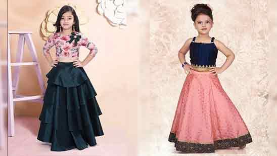 Kids Girl Lehenga Blouse Design