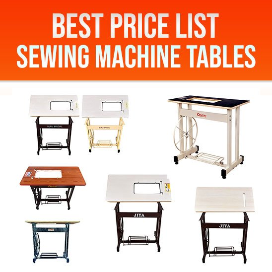 Sewing Machine Table Price List