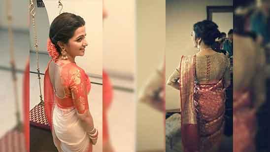 Silk Saree Blouse Designs Back Neck