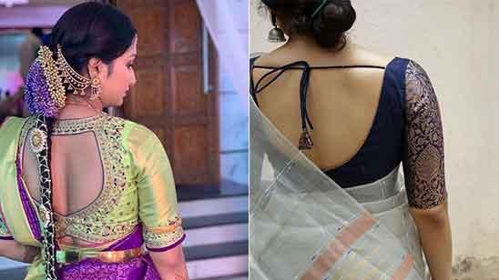 Silk Saree Blouse Designs Latest