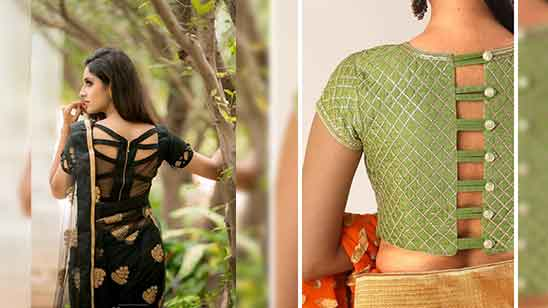 Silk Saree Blouse Simple Design