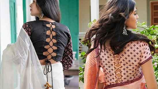 Silk Saree Simple Silk Saree Blouse Designs