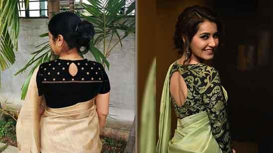 Simple Silk Blouse Design