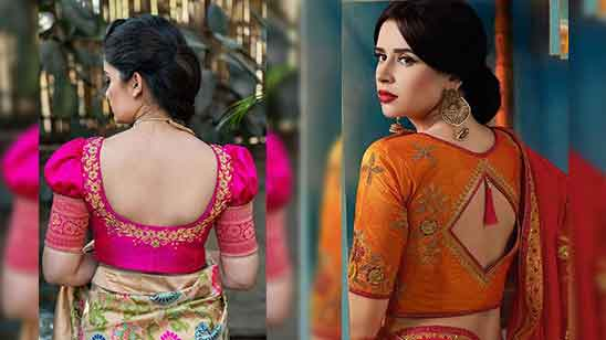 Simple Silk Saree Blouse Designs