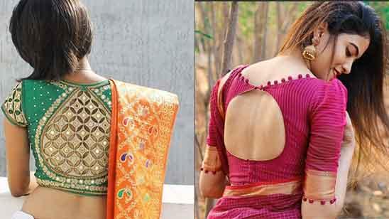 Wedding Silk Saree Blouse Designs