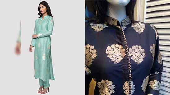 Churidar Neck Design with Collar