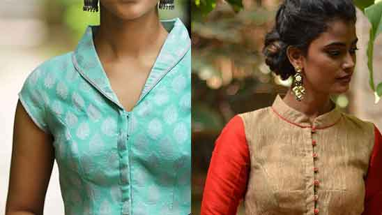 Collar Neck Blouse Designs Front and Back