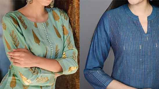 Collar Neck Design with Churidar