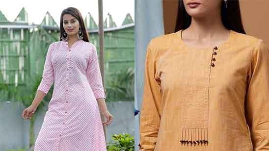 Cotton Churidar Neck Designs