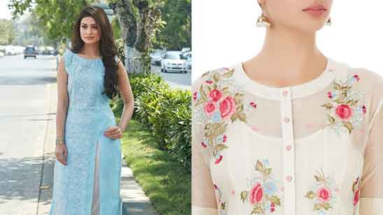 Cotton Churidar Neck Designs for Stitching Images