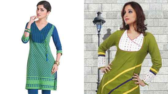 Cotton Churidar Neck Designs with Piping