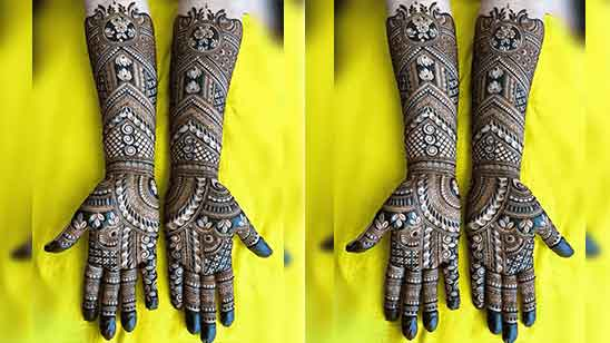 Design of Bridal Mehndi