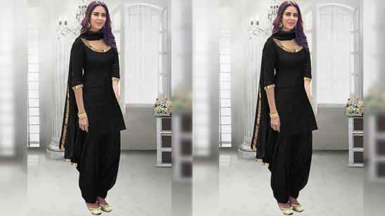 Design of Patiala Salwar Suit