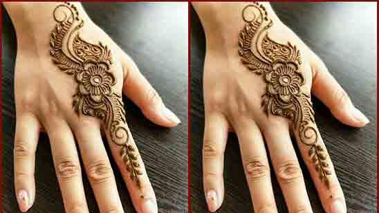 Easy Royal Finger Mehndi Design