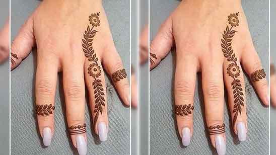Easy Simple Finger Mehndi Design