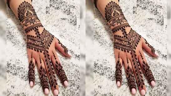 Finger Mehndi Design Front Side