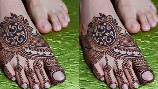 Foot Finger Mehndi Design