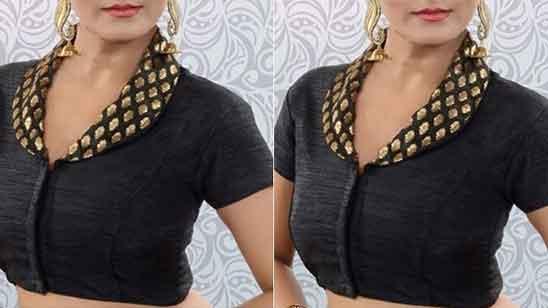 Front Collar Blouse Design