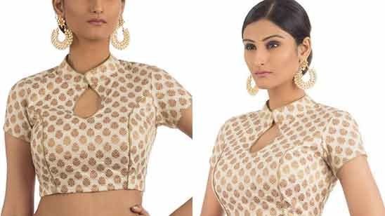 Front Collar Blouse Designs