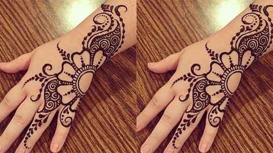Front Finger Mehndi Design