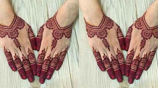 Front Finger Mehndi Design Simple