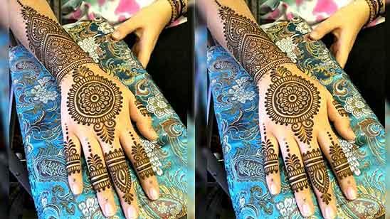 Front Finger Mehndi Designs