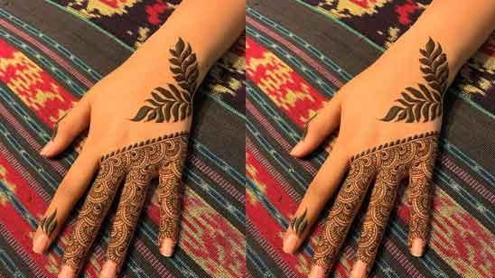 Front Hand Finger Mehndi Design