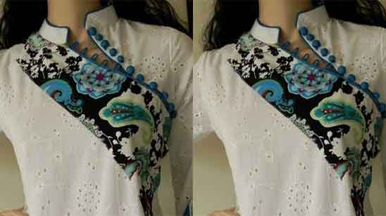 Half Collar Blouse Designs