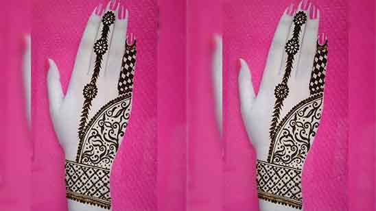 Half Hand Mehndi Design