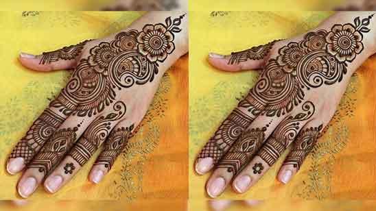 Instagram Royal Finger Mehndi Design