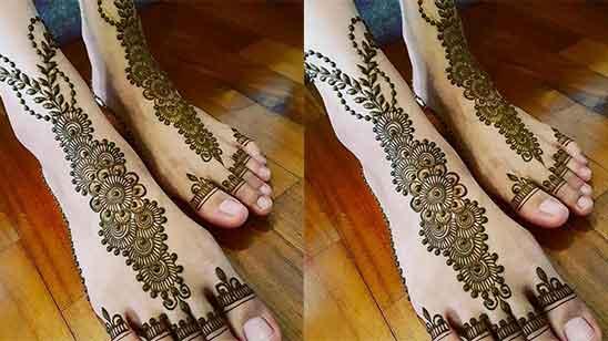Leg Finger Mehndi Design
