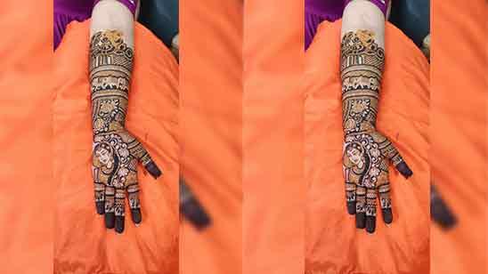 Mehndi Design in Bridal