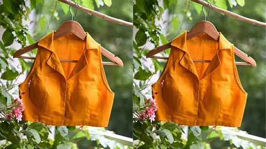 Modern Collar Blouse Design