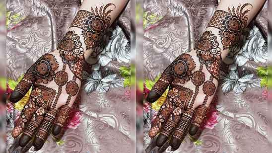 Modern Royal Mehndi Design