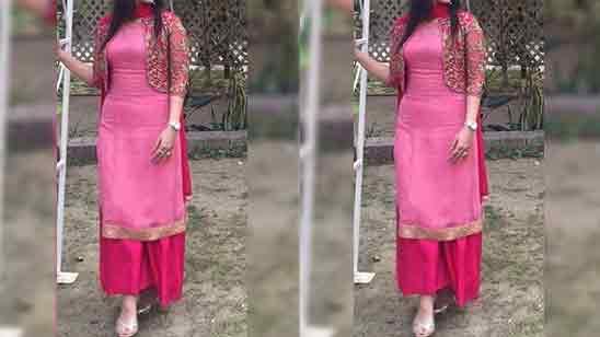 New Punjabi Plazo Suit