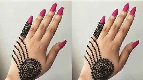 One Finger Mehndi Design