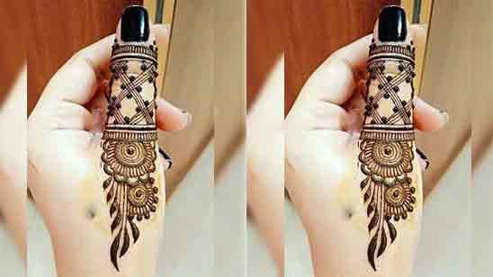 One Finger Mehndi Designs