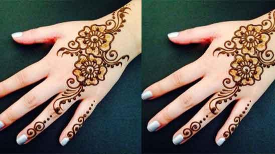 Only Finger Mehndi Design