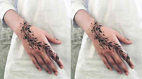Only One Finger Mehndi Design