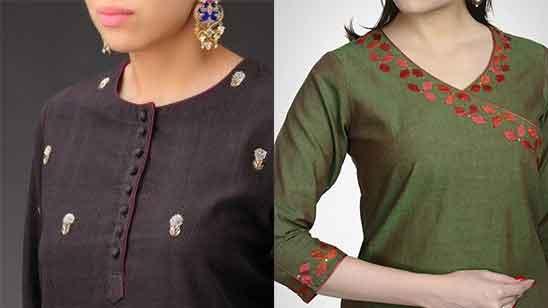 Piping Neck Designs for Churidar